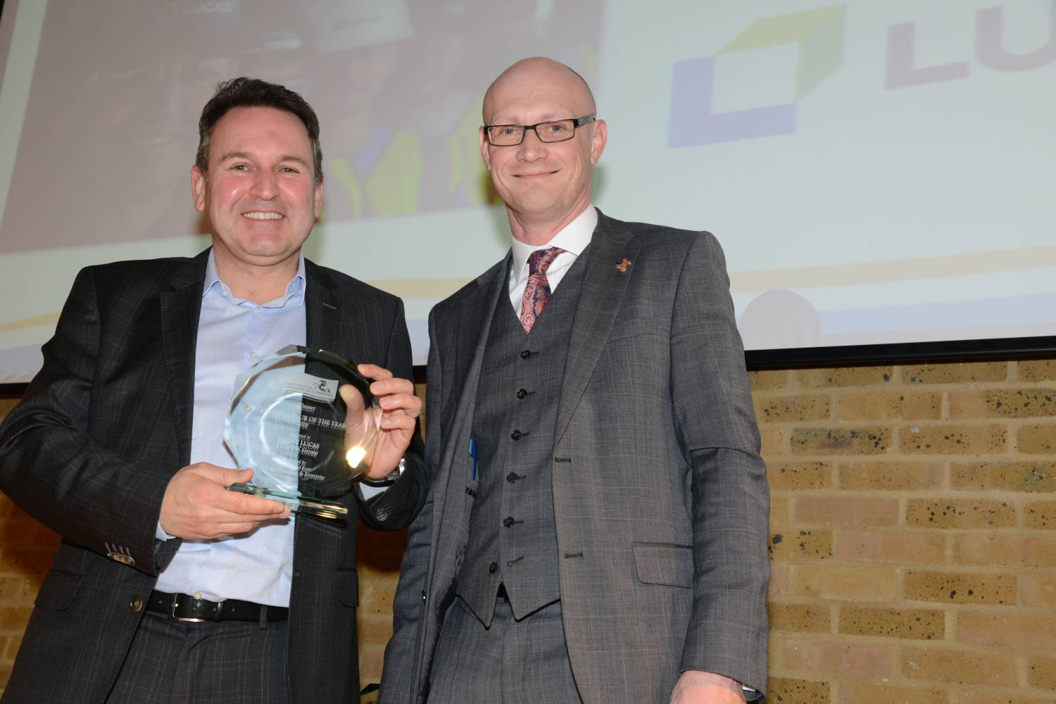 Danny Lucas wins entrepreneur of the year from kent invicta chamber of commerce awards